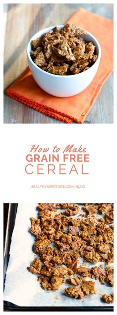 If you've ever craved cereal but want to eat grain free, this Grain Free Breakfast Cereal recipe is for you.