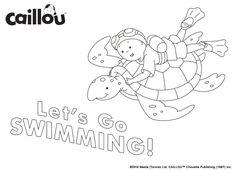 Caillou Summer Fun – Coloring Sheet 2