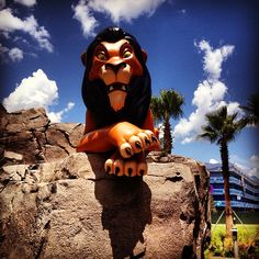 Scar @ the New Disney's Art of Animation Lion King's Wing. Photo by attractionsmagazine • Instagram