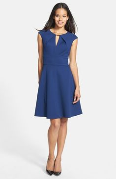 Donna Ricco Textured Knit Fit & Flare Dress available at #Nordstrom   $138