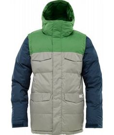 Burton Deerfield Puffy Snowboard Jacket Iron Grey/Astro Turf for Sale - Mens