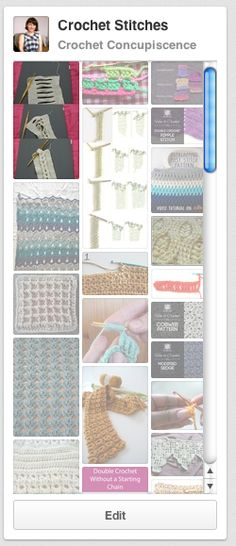 10 Wonderful Crochet Stitch Tutorials can you see my tutorial featured??? ;oD