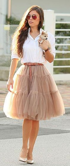 Not usually a fan of tulle, but this is nice:)