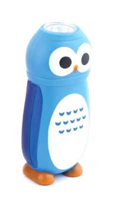 Little Hoot Owl Novelty Flashlight Crank Lights-Pink or Blue (Blue) CAS http://www.amazon.com/dp/B00GZZG2U6/ref=cm_sw_r_pi_dp_5XPsvb0H72RYN