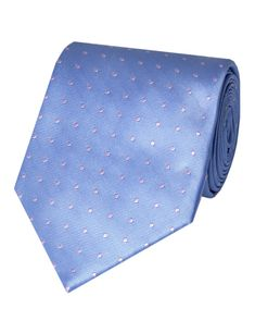 Men's Light Blue & Light Pink Spotted Tie 100% Silk