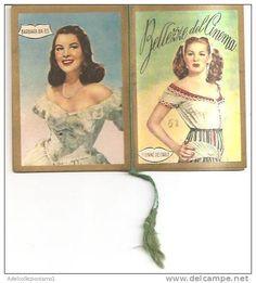 calendario bellezze del cinema  anno 1952