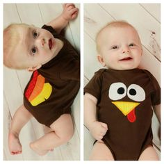 Cute Thanksgiving outfit ideas for baby's first Thanksgiving.