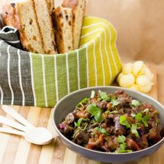 Ostrich sausage chutney and dried fruit mielie meal bread #freshlyblogged contestant Saaleha Bamjee serves up South African cuisine at it's finest. #recipe #picknpay