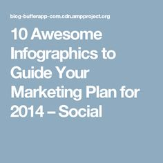 10 Awesome Infographics to Guide Your Marketing Plan for 2014 – Social