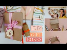 Make your own easy Gift Boxes (without a template!) by Clever Poppy Paper Plate Crafts For Kids, Paper Crafts, Paper Art, Mothers Day Cards Homemade, Origami Templates, Box Templates, Diy Christmas Gifts, Homemade Christmas, Gift Wraping