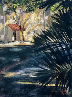 Around Back  - Original Fine Art By Ginny Stocker