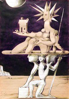Cruzeiro Seixas, #portuguese surrealist painter
