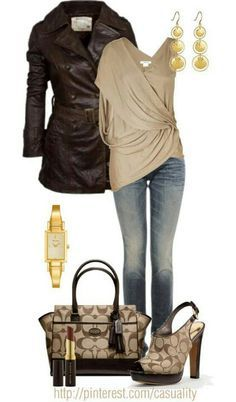 Coach bag & shoes a style for every story стиль, мода, сумки Mode Outfits, Casual Outfits, Fashion Outfits, Womens Fashion, Fashion Trends, Runway Fashion, Brenda Torres, Mode Style, Style Me