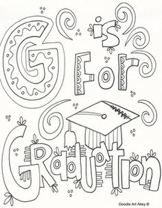 It is a graphic of Luscious Preschool Graduation Coloring Pages