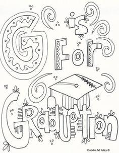 graduation coloring pages