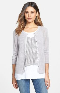 $218.00  Eileen Fisher Organic Linen Sweater Jacket (Regular & Petite) (Online Only) available at #Nordstrom