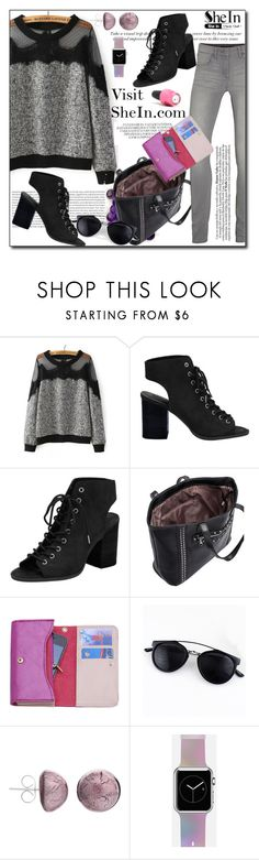"""SheInSide X / 14."" by esma178 ❤ liked on Polyvore featuring VILA, Oris, Black Rivet, Martick, Casetify, OPI, women's clothing, women, female and woman"