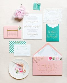 Courtney and Michael's Garden Party Wedding in St. Louis - The Stationery