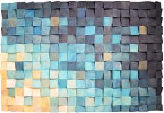 Wood wall art Reclaimed Wood Art Mosaic wood art Geometric