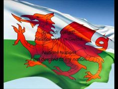 """National Anthem of Wales - """"Hen Wlad Fy Nhadau"""" (The Land Of My Fathers) Includes lyrics in both Welsh and English. Welsh National Anthem, National Songs, Wales Uk, North Wales, Wales Flag, Saint David's Day, Welsh Rugby, Welsh Dragon, Visit Wales"""