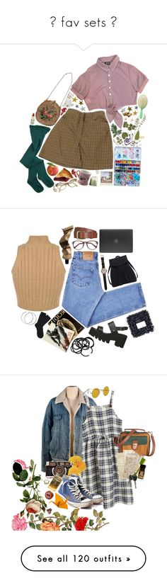 """✧ fav sets ✧"" by bx-sxnnt ❤ liked on Polyvore featuring Retrò, My Mum Made It, Mimco, Nach, CB2, Levi's, Aesop, EyeBuyDirect.com, Will Leather Goods and Shinola"