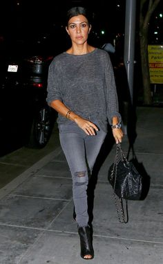 Kourtney Kardashian from The Big Picture: Today's Hot Pics  The Keeping Up With the Kardashians star grabs dinner in Beverly Hills.
