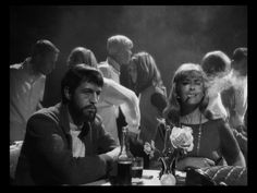 """Claudio Brook and Silvia Pinal in """"Simon of the Desert"""" ( Luis Buñuel, 1965) / Cinematography by Gabriel Figueroa"""
