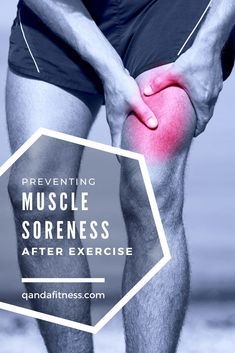 If you've recently started the gym or a new workout you'll know all about muscle soreness. Check out our top tips on preventing muscle soreness after exercise - QandA Fitness - #fitness #exercise #recovery
