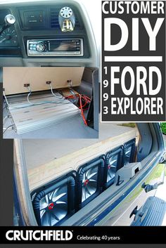 Dustin amps up the sound in his 1993 Ford Explorer with gear from Crutchfield!