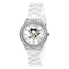 0c54211ae New York Knicks Frost Ladies White Wrist Watch from Team Sports. Click now  to shop NBA Fashion Accessories.