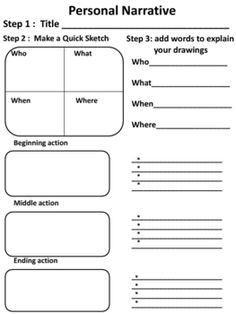 personal narrative graphic organizers. Resume Example. Resume CV Cover Letter