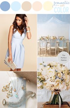 Color Story | Blue + Beige http://www.theperfectpalette.com/2013/07/color-story-romantic-soft-color.html