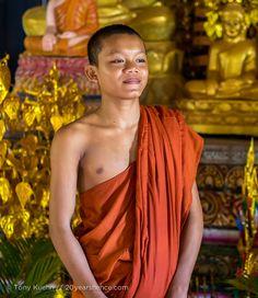 young monk, Kampot, Cambodia