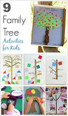 9 Family Tree Activities for Kids – Buggy and Buddy 9 Family Tree Activities for Kids Learn about family history with these 9 family tree projects- perfect for preschool, kindergarten, and on up! Family Tree Book, Family Tree For Kids, Trees For Kids, Book Tree, History Activities, Fun Activities For Kids, Activities About Family, Kids Fun, History For Kids