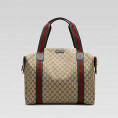 Gucci 243308 Fn61y 9643 Large Messenger-Tasche mit Unterschrift Web-Detail Gucci Herren Reisen