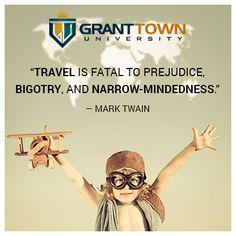 Travel is fatal to prejudice, bigotry and narrow mindedness #MarkTwain #education #ff