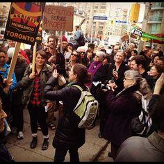 Anti-GMO Alfalfa Rally in Toronto April 9 2013. cban.ca