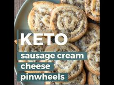 The perfect keto appetizer! Keto Sausage Cream Cheese Pinwheels are made with fat head dough and loaded with sausage and cream cheese! Just two net carbs per serving!