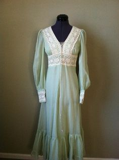 very close to mine same color and style mine was more sheer Vintage 70s Gunne Sax boho lace