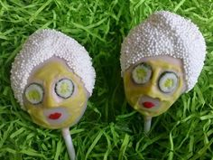 Cake pops for a Spa party or Mother's Day