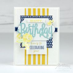 Perennial Birthday Card - Fruit Charlet Mallett, Stampin' Up! Card Tags, I Card, Birthday Wishes, Birthday Cards, Happy Birthday Gorgeous, Beautiful Handmade Cards, Birthday Balloons, Cool Cards, Paper Piecing