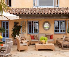 Boost your home's exterior appearance by making a statement with your windows! More ways to add color to your exterior: http://www.bhg.com/home-improvement/exteriors/curb-appeal/add-exterior-color/?socsrc=bhgpin071113windows=3