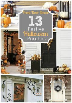 Festive Halloween porches
