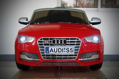 Audi S5 Sport 12V Electric Kids Ride-On Car with Parental Remote   Red