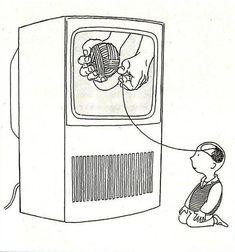La caja tonta Sketch Manga, Satirical Illustrations, Meaningful Pictures, Posca Art, Deep Art, Political Art, Kids Education, Education Humor, Belle Photo