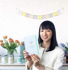 The wonderful Marie Kondo at the Makelight Studio today with her gorgeous new book 'Spark Joy'. So sad not to be there but so happy she has signed my copy! Thank you and xoxo by emilyquinton Organizar Closet, Sparks Joy, Konmari Method, Personal Organizer, Life Organization, Minimalist Home, Feng Shui, Decoration, Frame