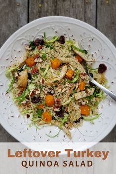 Turn leftovers from your holiday turkey dinner into this Leftover Turkey Quinoa Salad! Pork Recipes For Dinner, Italian Dinner Recipes, Turkey Recipes, Lunch Recipes, Best Salad Recipes, Healthy Recipes, Healthy Appetizers, Healthy Eats, Delicious Recipes