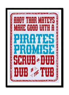 This would go perfect in Cooper's pirate bathroom!