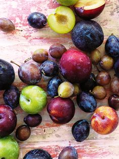 A rainbow of ripe plums  #summer