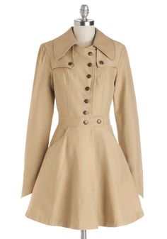 Swell-Read Trench. A little rain cant keep you from delving into a book at your favorite cafe! #tan #modcloth